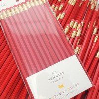 Duke Red Pencils, set of 12, Preppy School Supplies
