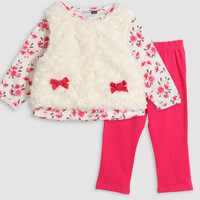 Children's clothing outfits baby girls 3 pcs set overall two bows newborn baby kids clothing set princess set 2015 new Free shipping