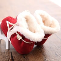 Baby Winter Boots Shoes with Fur