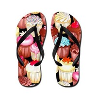 Yumming Cupcake Flip Flops on CafePress.com