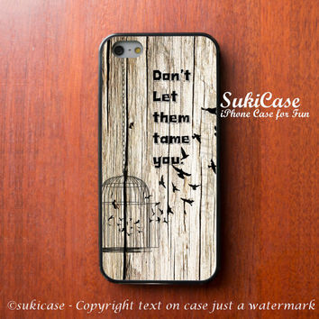 IPHONE 5 CASE Bird Flying out From Birdcage Freedom on Wooden iPhone 5s iPhone 4 iPhone Cases Samsung Galaxy S4 Cover iPhone 5c iPhone 4s