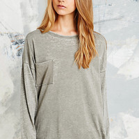 Staring at Stars Washed Burnout Top in Grey - Urban Outfitters