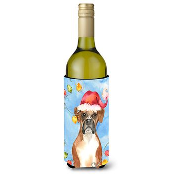 Christmas Lights Boxer Wine Bottle Beverage Insulator Hugger CK2468LITERK