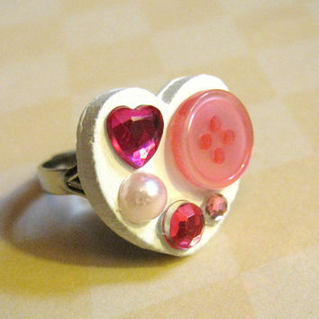 Valentines Day Heart Ring by Stargazer02 on Etsy