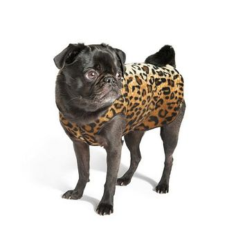 Stretch Fleece Pullover — Leopard