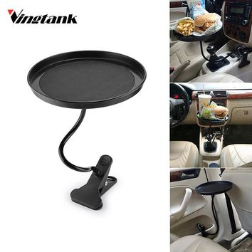 Vingtank Universal 360 Rotating Car Mount Tray Tablet Clamp Holder Organizer for Coffee Tea Drink Food Car styling