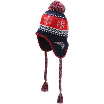 '47 Brand New England Patriots Abomination Knit Beanie - Navy Blue/Red