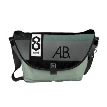 8 a-Bit Scared Geek Chic S1 Messenger Bag
