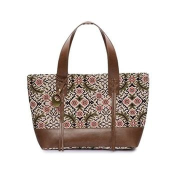 Phive Rivers Women's Jacquard Fabric Tote Bag -PRU1360