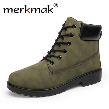 Merkmak 2017 Women's Shoes Fashion Martin Women Boots Winter Autumn New Style Breathable Shoes Women Brand Designer Masculinos