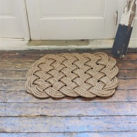 Woven Nautical Entry Rug, Square Door Mat