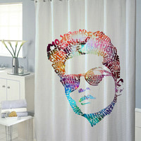 bruno mars galaxy shower curtain new model