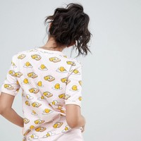 ASOS DESIGN Gudetama Whatever Tee And Short Pajama Set at asos.com