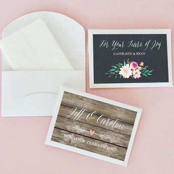 Personalized Floral Garden Tissue Packs (Set of 24)