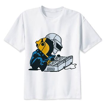 Daft Punk t shirt Men anime T-Shirt Men Tops boy Short Sleeve t-shirt top Tee Clothes
