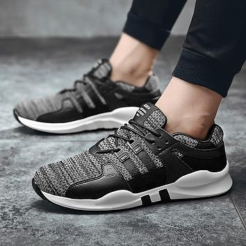 Men Mesh Casual Shoes Tenis Masculino Adulto Breathable Spring Autumn Lace-Up Comfortable Fashion Lightweight Trainers 39-46