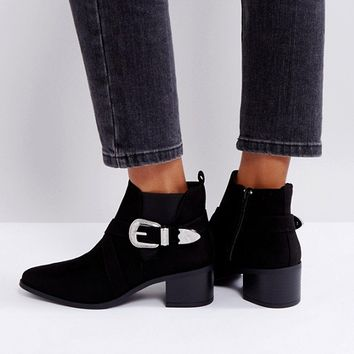 New Look Buckle Western Chelsea Boot at asos.com