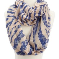 Lace Print Zebra Stripe Infinity Scarf: Charlotte Russe