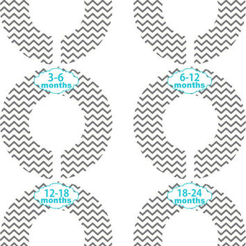 Custom Baby Closet Dividers Girl Boy Chevron Gray Teal Nursery Closet Dividers Baby Shower Gift Baby Clothes Organizers Baby