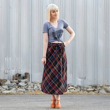 Best Long Plaid Wool Skirt Products on Wanelo