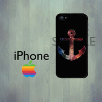 Space Galaxy Anchor iPhone Case - iPhone 4 Case or iPhone 5 Case