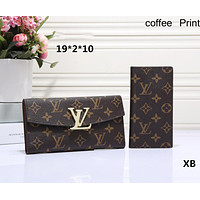 LV Loius Vuitton 2018 classic counter models women's favorite wild fashion clutch bag F-OM-NBPF Coffee LV Print