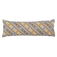 Southwest Design Gold Blue Gray Body Pillow
