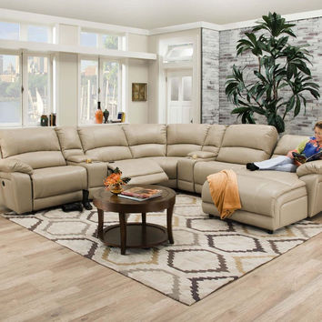 Faulkner Champagne Reclining Chaise Sectional