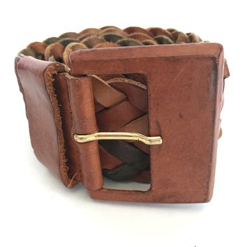Authentic Orciani Woven Leather Belt