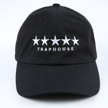 The Five Star Traphouse Dad Hat in Black