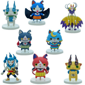 8pcs/set Yokai Watch Figures Cartoon Pets Kids Toys Christmas Gift