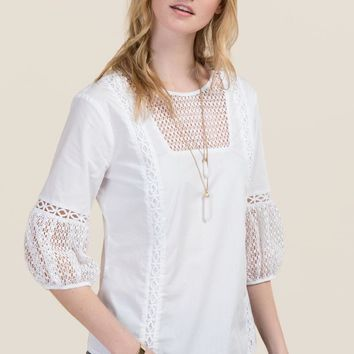 Coleen Embroidered Poplin Blouse