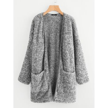 Lets Do Cozy Tonight Coat - Grey