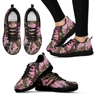Baby Pink Camo Tennis Shoes