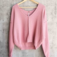 free people - take me places pullover - pink