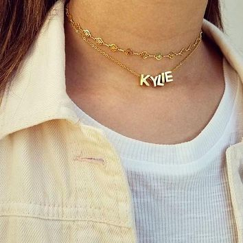 Satellite Layered Name Choker