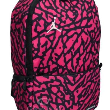 b4519e4942c4 Nike Air Jordan Backpack Toddler Preschool Girl Black Pink Mini Small Bag