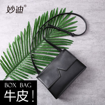 A20114 2017 Fashion Designer Women Messenger Bags solid Genuine Leather Small Crossbody Shoulder Bags Women Bolsos Casual Bag