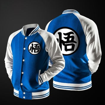 Japanese Anime Dragon Ball Goku Varsity Jacket Autumn Sweatshirt Coat Jacket Brand baseball jersey
