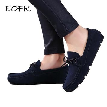 EOFK Moccasin homme Loafers Men Slip On shoes Casual Brand Suede Leather Slipony Moccasins Men Shoes Mocasines Zapatos Hombre