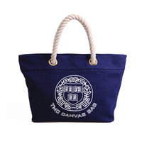 Navy Canvas Shopper — JewelryForever