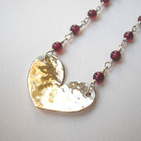 Heart Necklace Sterling SilverNecklace by VeronicaRussekJoyas