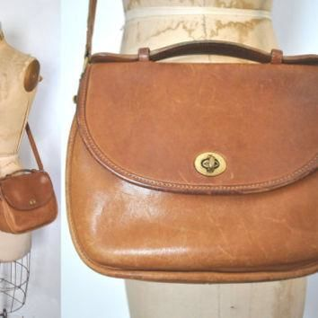 Vintage Coach Bag / brown leather purse