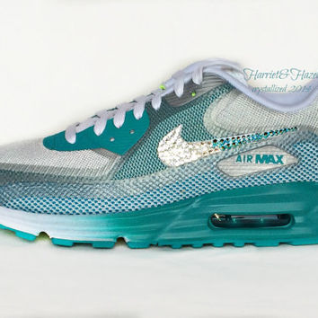 newest 39d57 968b2 Wmns Nike Air Max Lunar 90 C3.0 Wolf Grey Black Turquoise Blue P