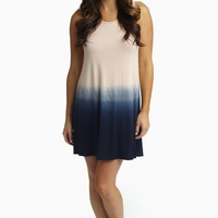 Pink Navy Ombre Tank Dress