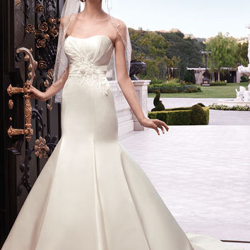 Casablanca Bridal 2132 Strapless Satin Trumpet Wedding Dress