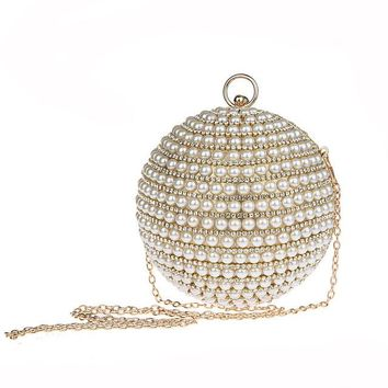 2019's BRAND NEW TREND: Pearl Beaded Sphere Shaped Clutch Bags