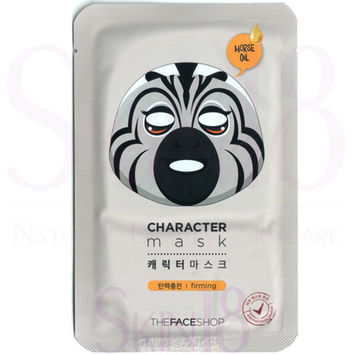 The Face Shop Character mask - Horse (Firming + Horse Oil)
