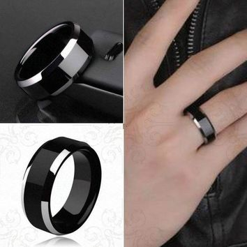 1 Pcs Sell Noble Titanium Ring Men Gold Anti-allergy Smooth Simple Wedding Couples Rings Bijouterie for Man or Woman Gift