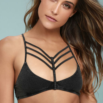 Sweet Secrets Washed Black Bralette